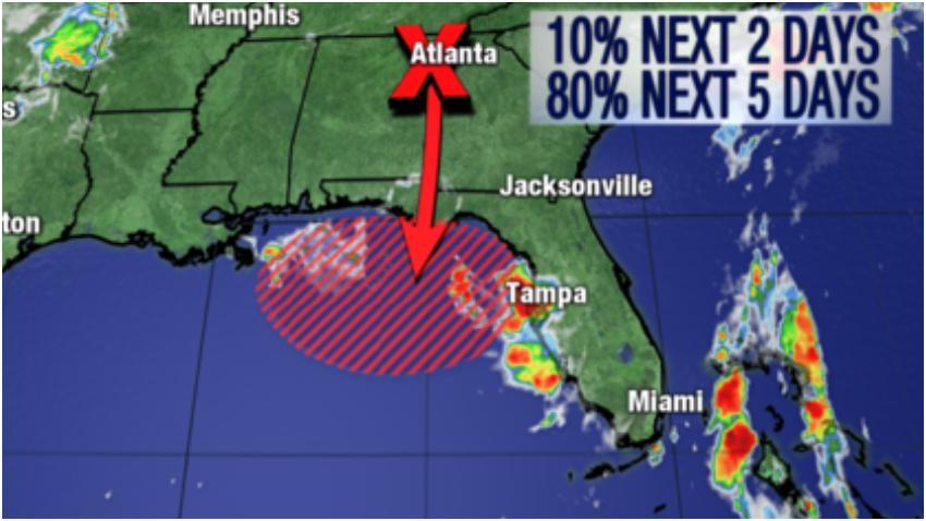 Se espera que un sistema tropical se desarrolle lentamente y afecte a Florida y a Texas