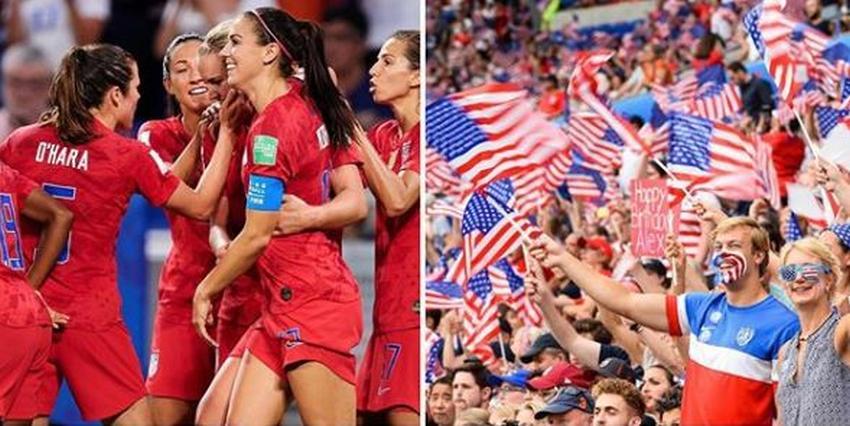 Estados Unidos vence a Inglaterra y llega a la final de la Copa del Mundo de Fútbol para mujeres