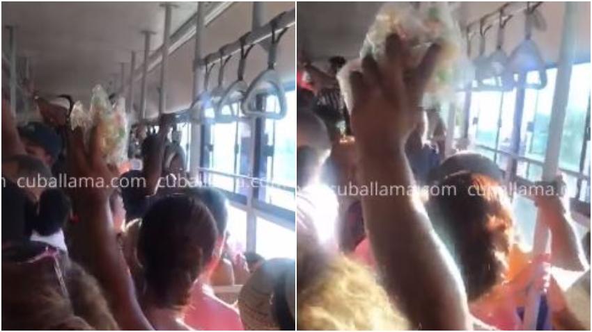 Pregonero que vendía caramelos en una guagua en Cuba se gana a los pasajeros con sus ocurrencias