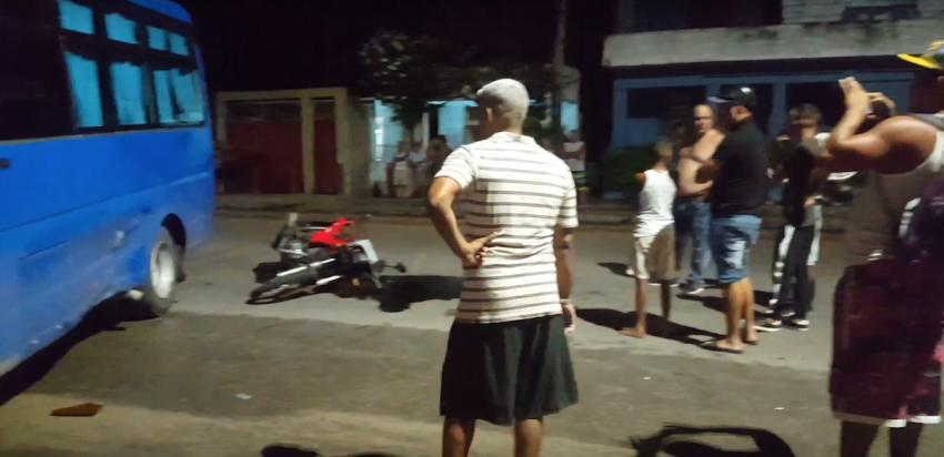 Accidente en La Habana: Muere un joven tras chocar con una moto contra un ómnibus Yutong