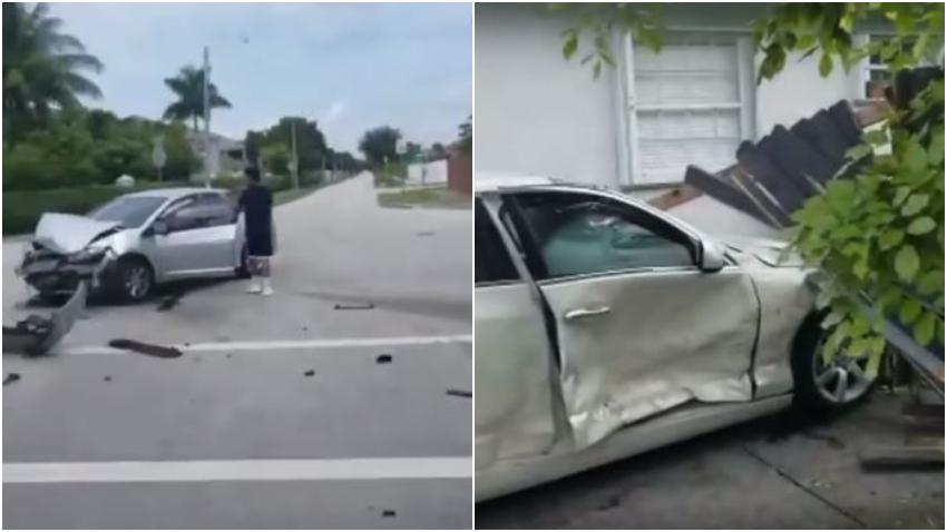 Aparatoso accidente en el suroeste de Miami