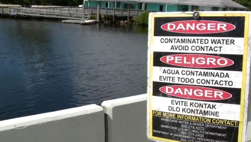 Reparan temporalmente la tubería de desechos albañales que tiene playas contaminadas en Miami pero las personas aún no se pueden bañar