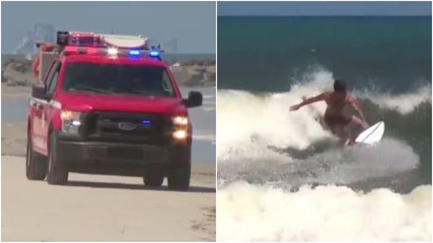 Tiburón ataca a un surfista en la playa New Smyrna en Florida