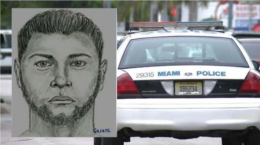 Policía de Miami publica boceto de un hombre que violó a una mujer cerca del Parque del Dominó en la Pequeña Habana