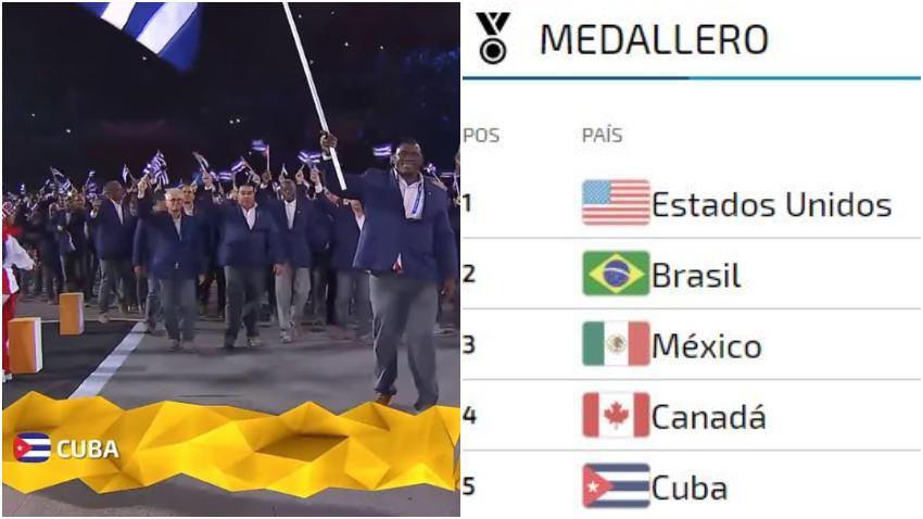 Cuba quedó en el quinto puesto en los Juegos Panamericanos y del Caribe en Lima, Perú