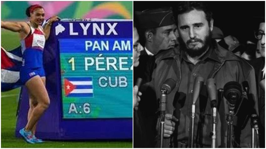 Deportista cubana Yaimé Pérez dedica su medalla en los Juegos Panamericanos al fallecido dictador Fidel Castro