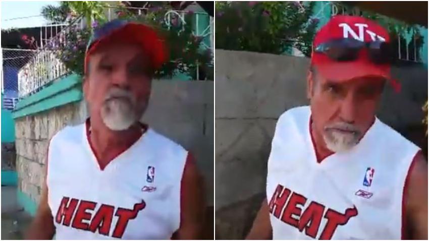 """Cubano dice que es """"comunista hasta el final"""" pero viste camiseta del Miami Heat"""