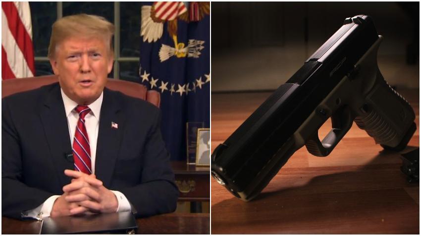 Presidente Trump aboga por más control sobre la venta de armas
