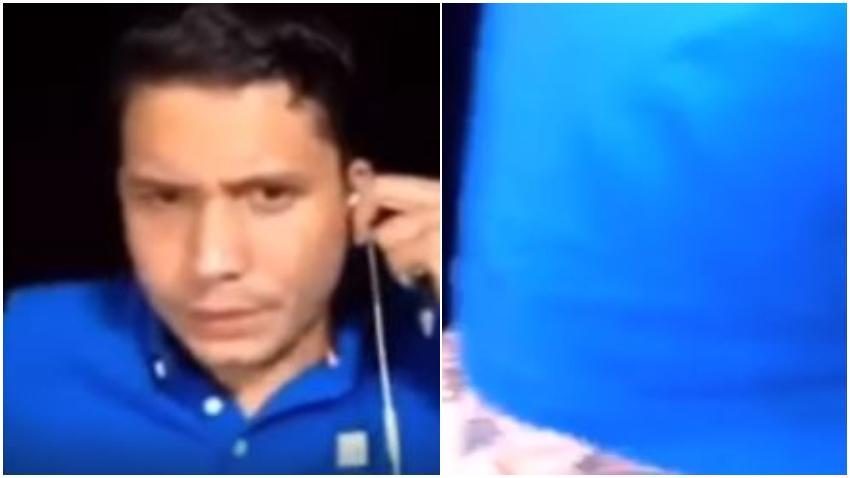 El líder opositor cubano Eliecer Avila muestra los calzoncillos durante una transmisión en vivo y ante las burlas se lo toma con humor