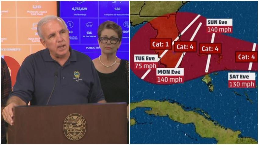 Alcalde de Miami-Dade decreta el estado de emergencia ante la llegada del huracán Dorian