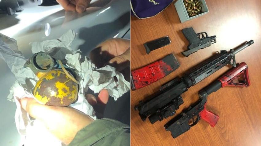 Oficiales descubren una granada activa dentro de un vehículo durante una parada de tráfico en Florida