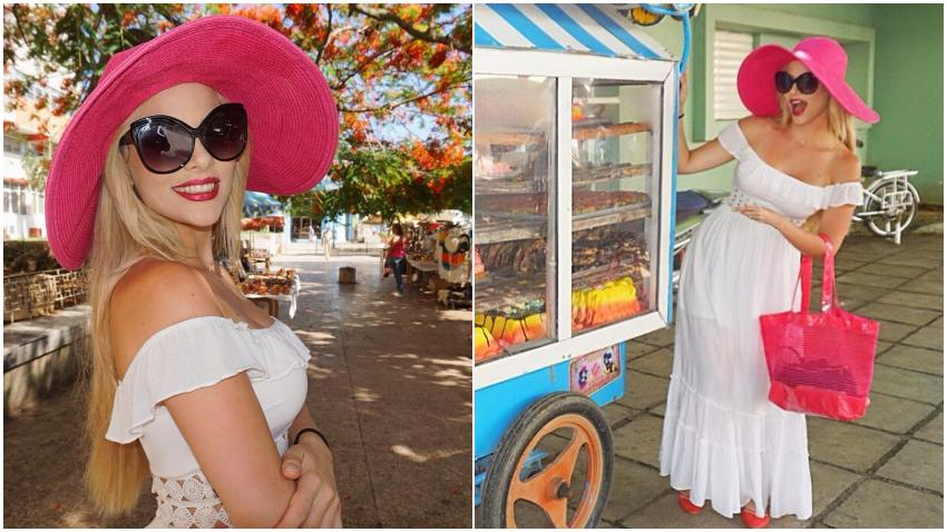 Cantante y modelo cubana Haniset Rodriguez publica fotos de su última visita a Cuba