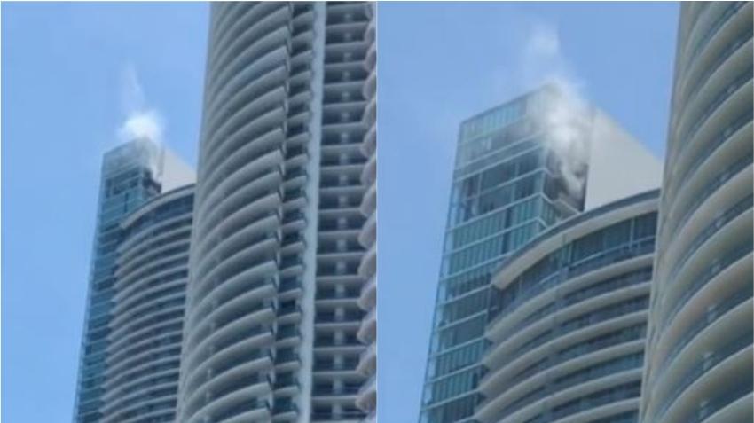 Autoridades advierten el peligro de barbacoas en balcones tras incendio en un edificio en Brickell