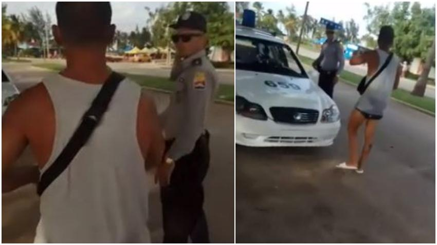 """Turista argentino se enfrenta a la policía en Cuba: """"Yo vengo a Cuba a gastar dinero para que paguen tu salario"""""""