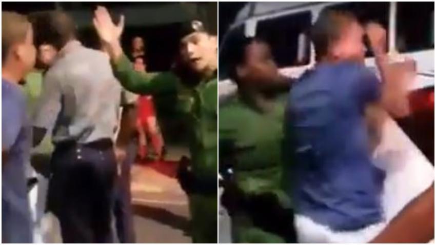 Policias en Cuba abusan física y verbalmente a un joven cubano