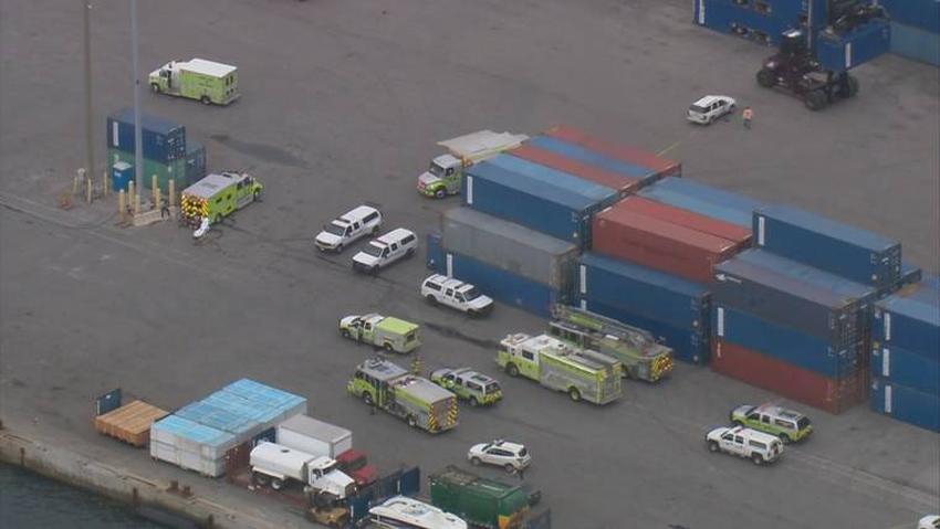 Autoridades responden a situación de emergencia en el puerto de Miami