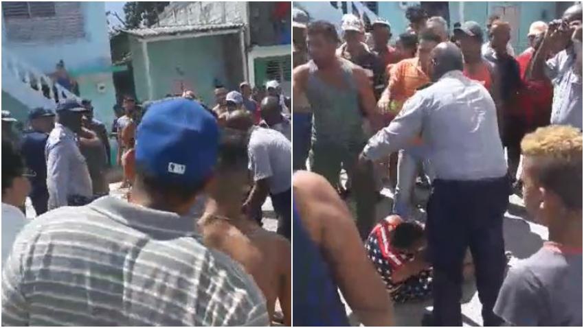 Policías golpean a cubano que filmaba la detención de un cochero en Santiago de Cuba