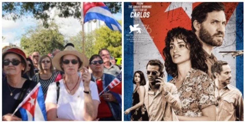 """El exilio cubano molesto por el enfoque de """"Wasp Network"""" protagoniza protesta en Miami contra la cinta"""