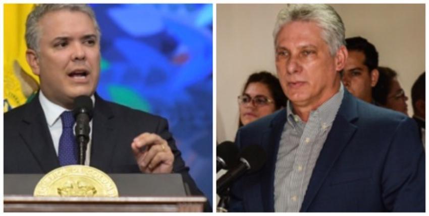 Colombia podría expulsar a diplomáticos cubanos, luego de que se diera a conocer La Habana busca intervenir a favor de la izquierda en elecciones de 2022