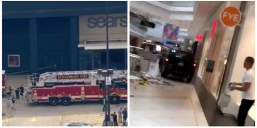 SUV atraviesa el interior de un mall en Chicago y causa pánico entre las personas, se reportan daños
