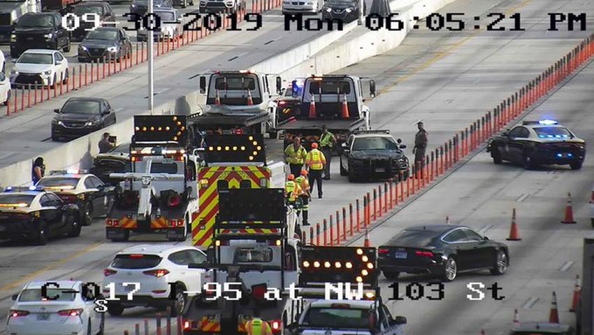 Accidente en la I-95 en Miami provoca el cierre de varias vías