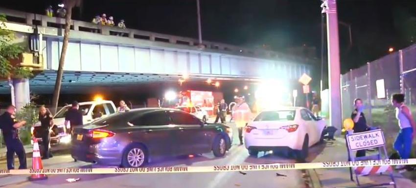 Arrestan a una mujer por DUI en accidente que dejó hospitalizado a un policía de Miami