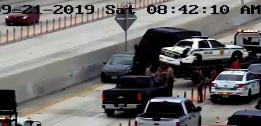 Policía investiga accidente en la I-95 que involucró a una patrulla y otros dos vehículos