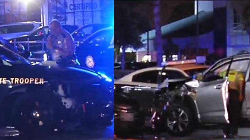 Hombre borracho choca contra patrulla de Florida Highway Patrol estacionada en vecindario de Miami Gardens; oficial resulta herido