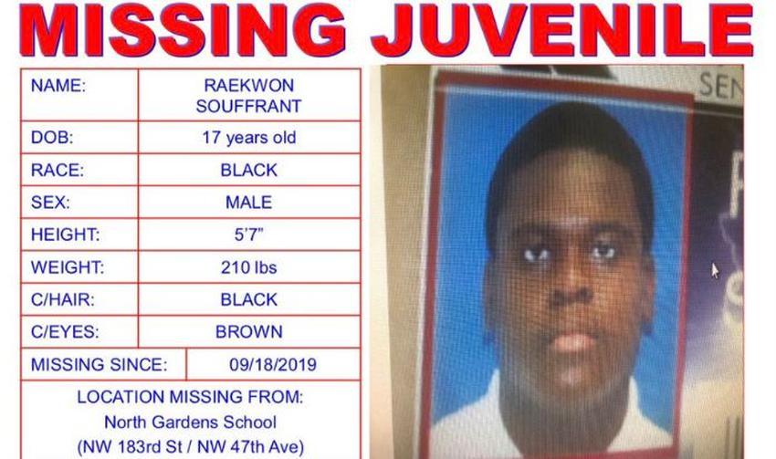Buscan en Miami Gardens a adolescente desaparecido