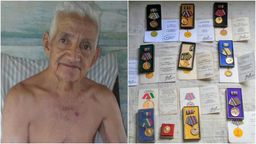 Anciano ex combatiente de la Revolución vive en Cuba en la extrema pobreza