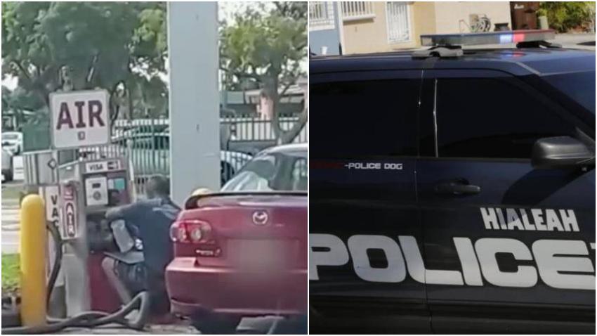 Policía de Hialeah arrestó a un hombre que robaba dinero de las aspiradoras de carros en gasolineras