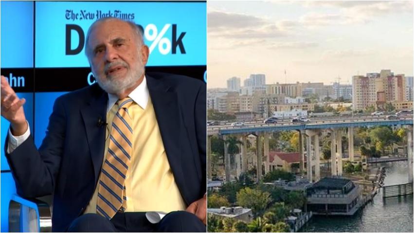 Multimillonario Carl Icahn mueve su compañía Icahn Enterprise de Nueva York a Miami por aparente tema de impuestos