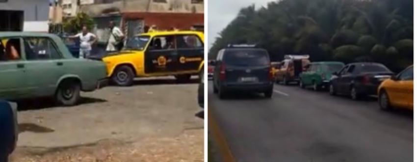 Reportan colas de más de diez horas para adquirir gasolina en Cuba