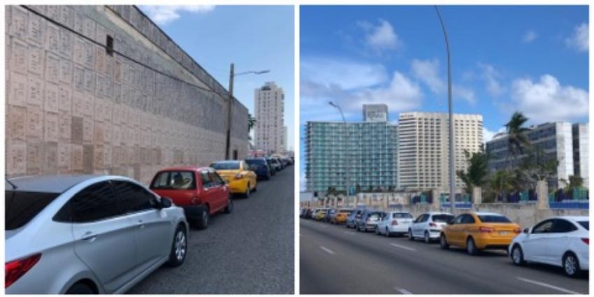 Cuatro horas de cola en servicentro en La Habana por la crisis con el combustible