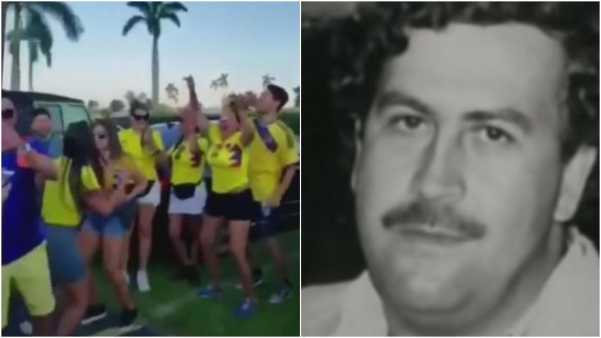 """Indignación entre colombianos en Miami por bailar y celebrar con """"frases"""" de Pablo Escobar"""