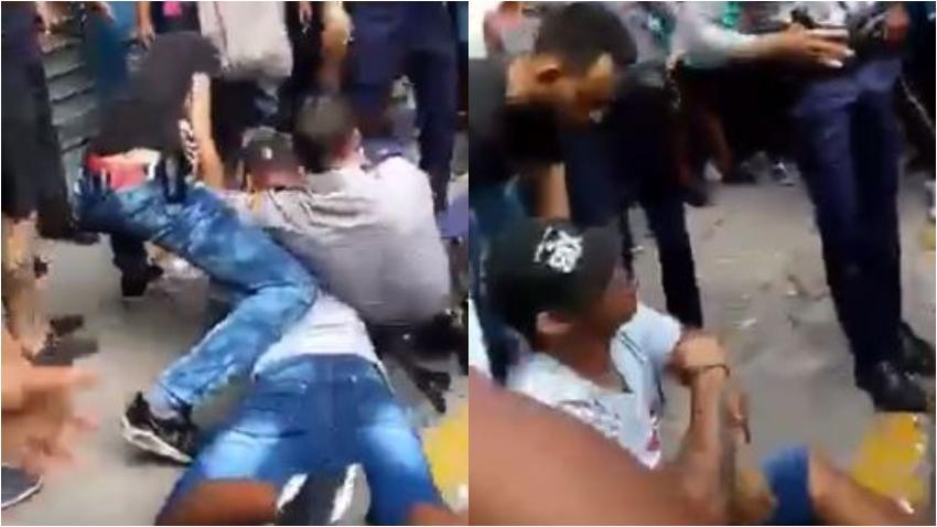 Policía en Cuba golpea a un cubano que se encontraba en el suelo y esposado