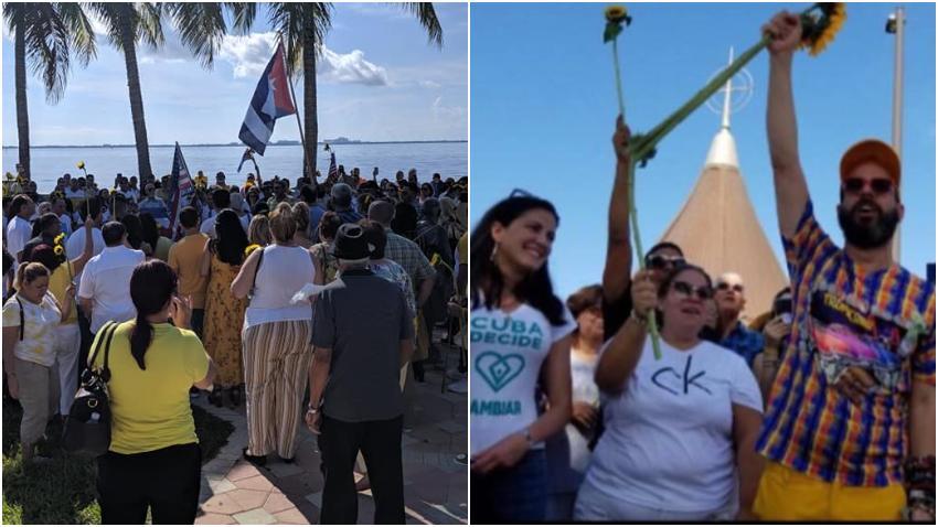 Cubanos en Miami piden desde la Ermita de la Caridad del Cobre la libertad para Cuba