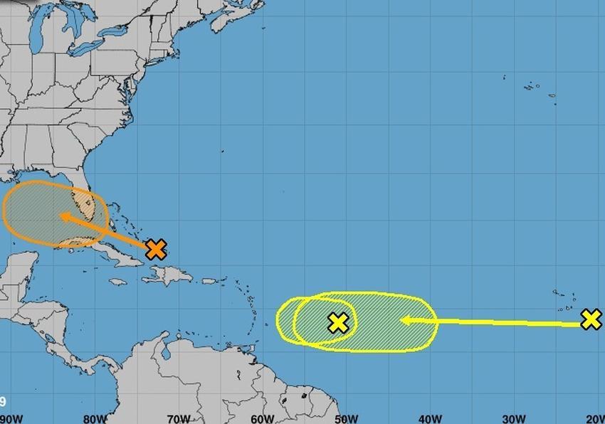 Sistema tropical tiene un 50% de posibilidades de convertirse en la tormenta tropical Humberto, se esperan fuertes lluvias para Florida