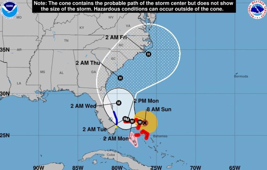 Huracán Dorian alcanza la categoría 5 con vientos de 160 millas por hora
