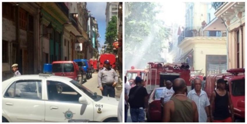 Incendio en una tienda en Obispo afecta viviendas aledañas
