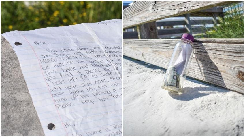 Llega a una playa de Florida una botella con las cenizas de un hombre de Texas y un mensaje