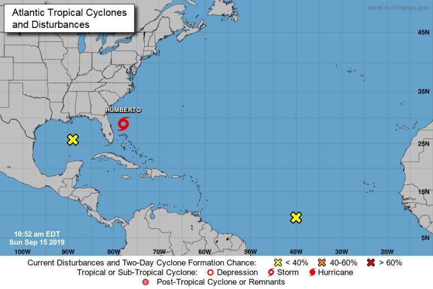 Florida escapa de la Tormenta Tropical Humberto pero otro sistema en el Atlántico causa preocupación