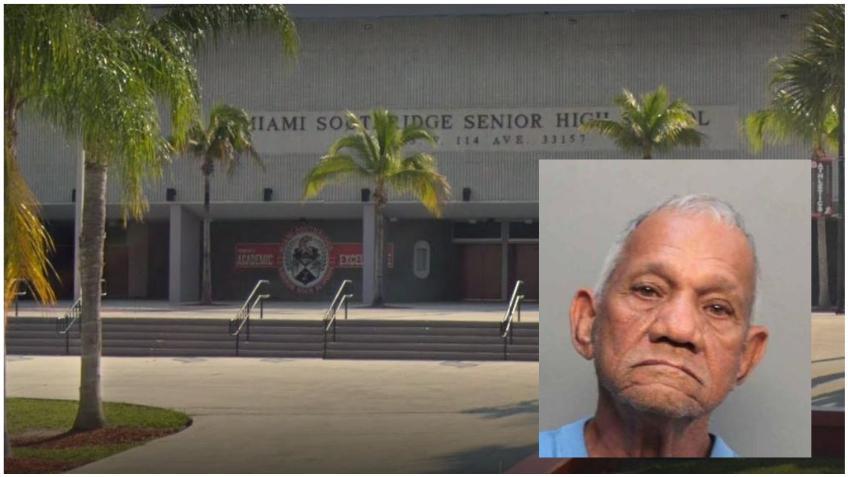 Un hombre es arrestado por tocarse afuera de una secundaria en Miami