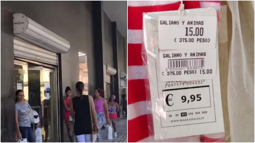 Cuba vende productos al doble del precio que en Europa y no se molesta en quitar la etiqueta con el precio en euros