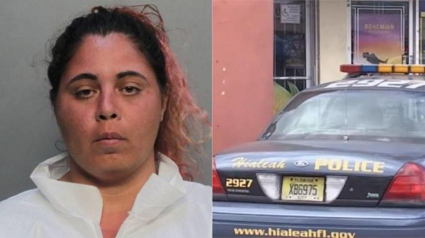 Una mujer de Hialeah es acusada de apuñalar fatalmente por la espalda a otra persona