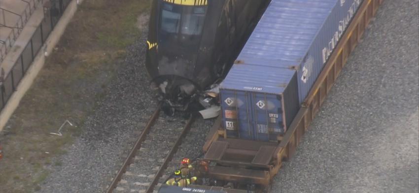Tren rápido Brightline se estrella contra un automóvil en Oakland Park, un hombre fue declarado muerto en la escena