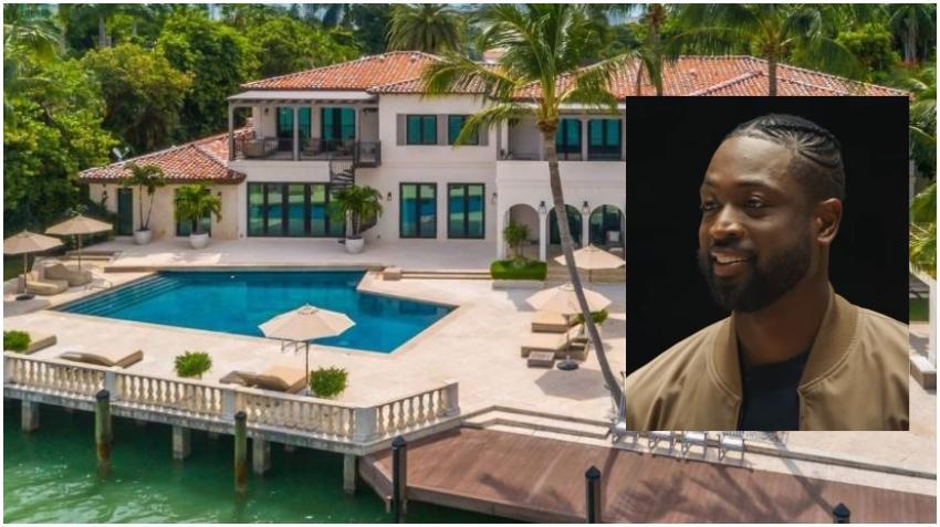 Dwyane Wade pone a la venta su mansión en Miami Beach por $32,5 millones