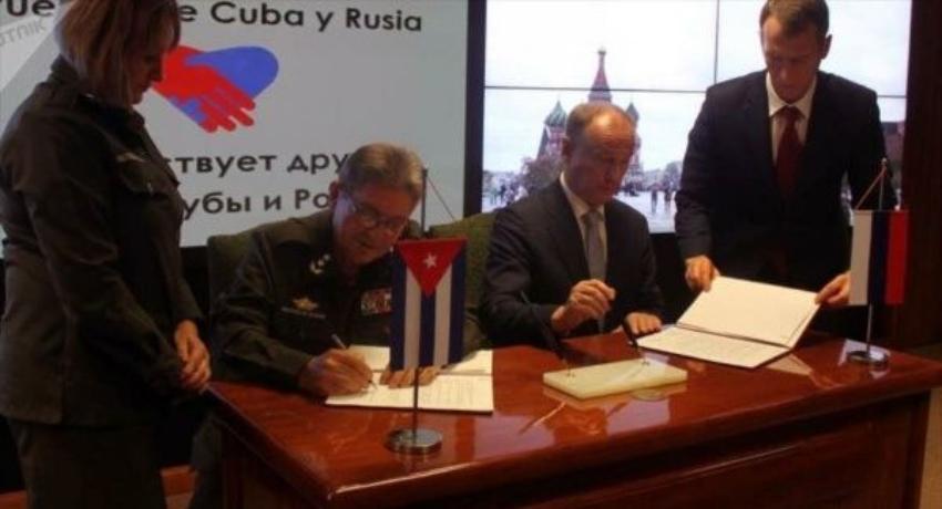 Cuba y Rusia firman memorando de entendimiento y cooperación en temas de seguridad internacional y regional