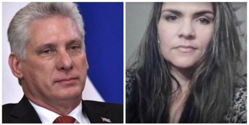 """Díaz-Canel asegura a una cubana en Dublín que en Cuba no persiguen a nadie """"por estar o no con la revolución"""""""