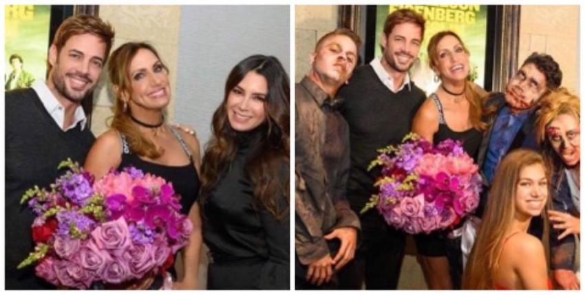 William Levy y su esposa apoyan a Lili Estefan en el estreno de Zombieland 2 en Miami